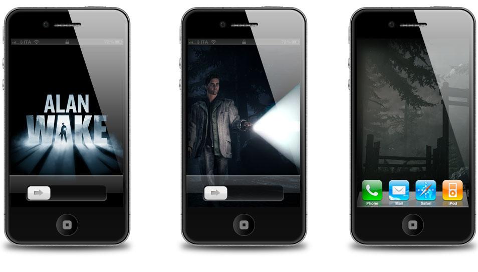 Alan wake iphone 4s wallpaper e home screen for Wallpaper home iphone 4s