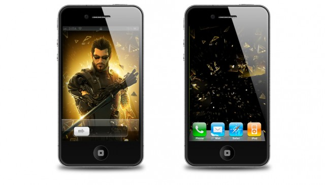 Deus Ex: Human Revolution iPhone 4S wallpaper e Home Screen