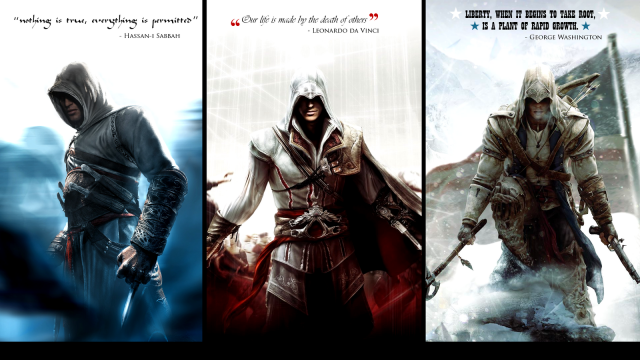 Altair, Ezio e Connor